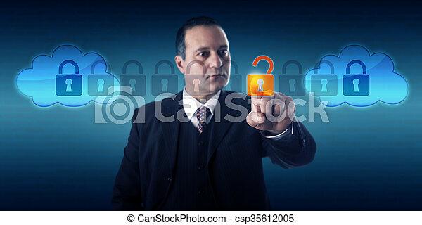 direttore, intercloud, dati, sbloccando, scambio - csp35612005