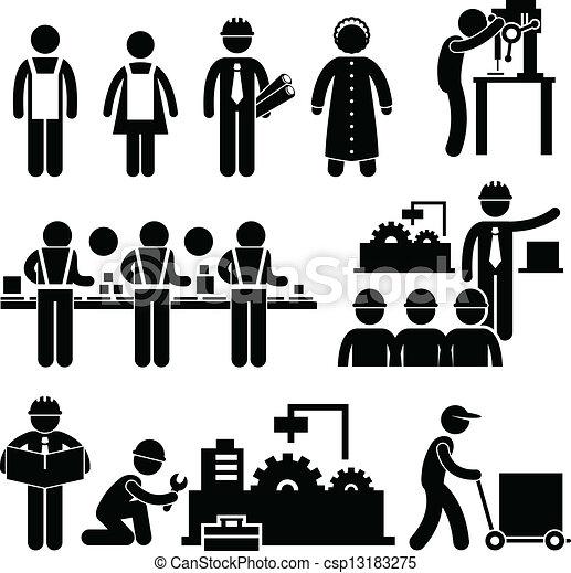 direttore, lavoratore, fabbrica, lavorativo - csp13183275