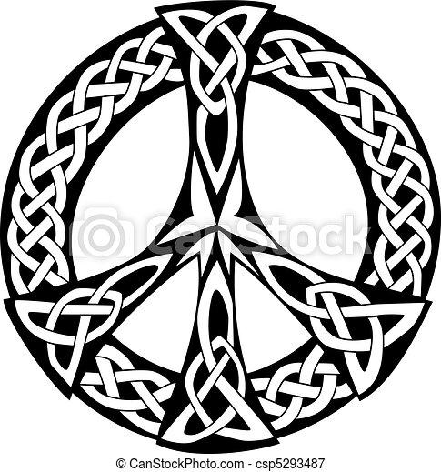disegno, celtico, pace, -, simbolo - csp5293487