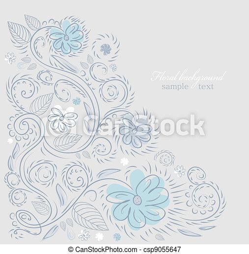 disegno, fondo, ornare - csp9055647