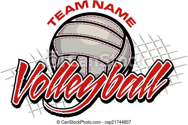 disegno, pallavolo, squadra - csp21744807