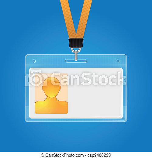 distintivo, id, plastica - csp9408233
