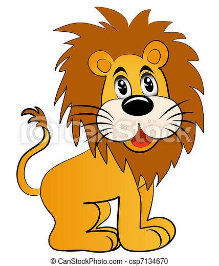 divertire, leone, giovane - csp7134670