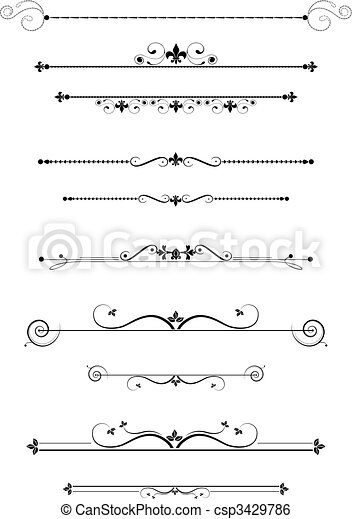 divisori, decorativo - csp3429786