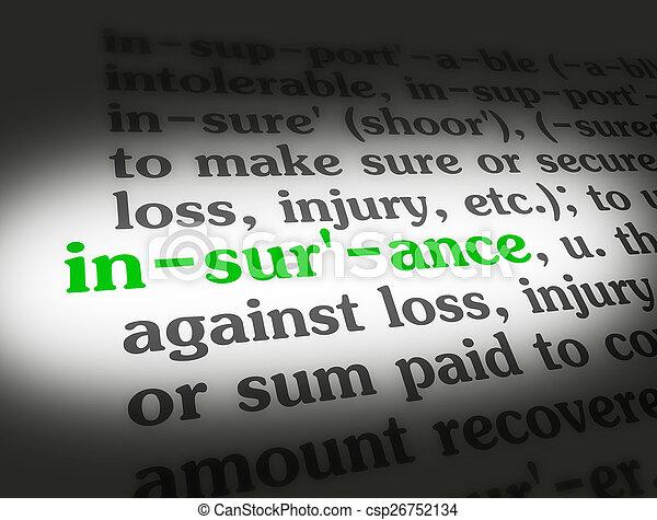 dizionario, assicurazione - csp26752134