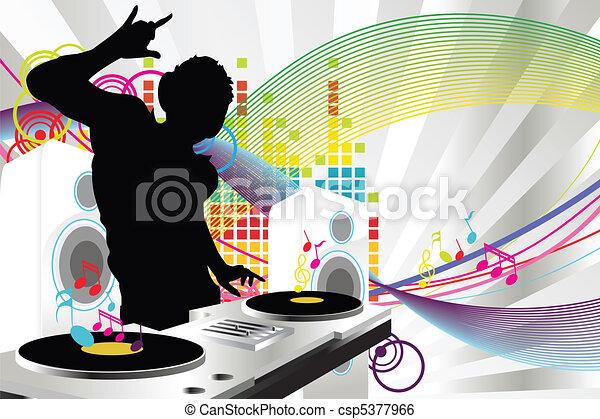 dj, musica - csp5377966