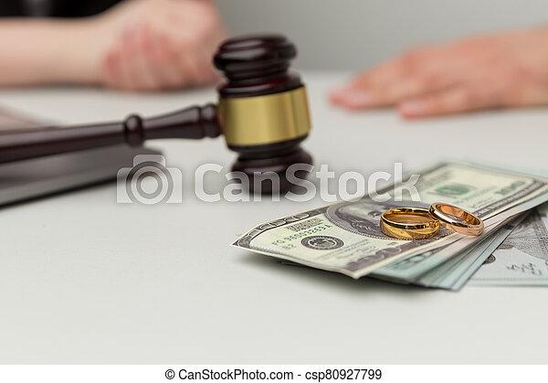 dollari, concept., sezione, because, legale, soldi, divorce. - csp80927799