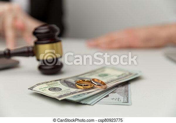 dollari, concept., sezione, because, legale, soldi, divorce. - csp80923775