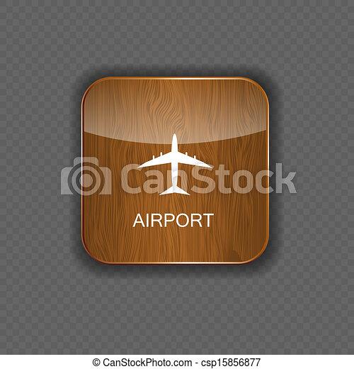 domanda, aeroporto, vettore, icone - csp15856877