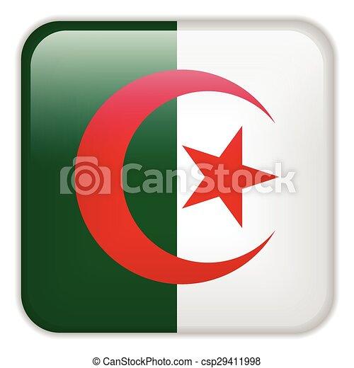 domanda, bandiera, smartphone, algeria - csp29411998