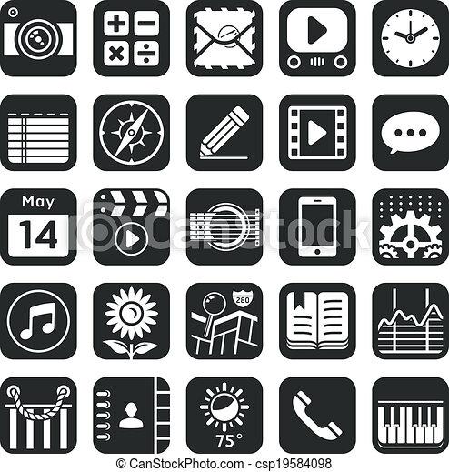 domanda, icone - csp19584098