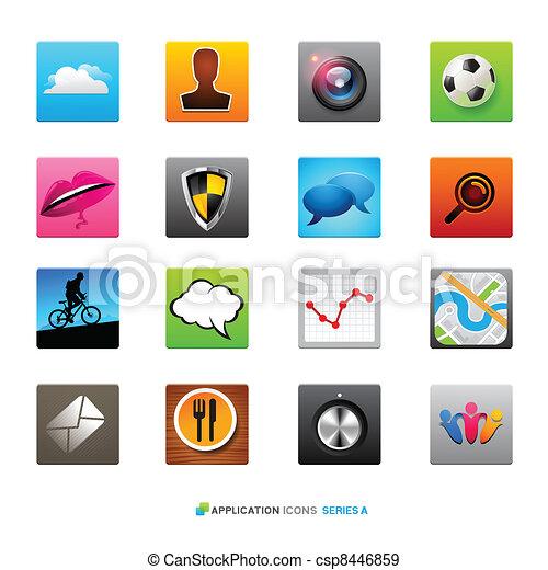 domanda, icone - csp8446859
