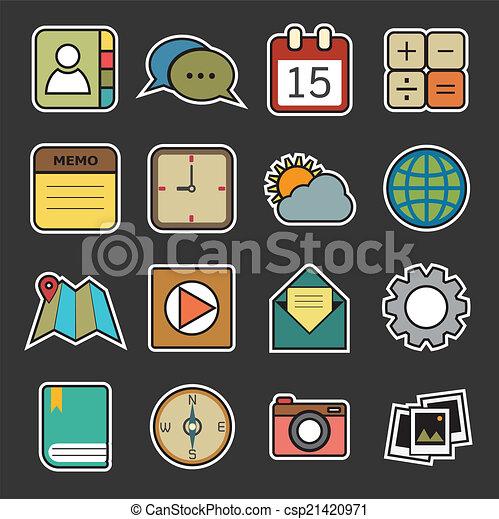 domanda, icone - csp21420971