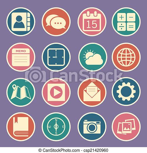 domanda, icone - csp21420960