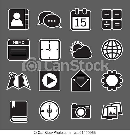 domanda, icone - csp21420965
