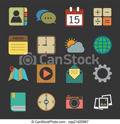 domanda, icone - csp21420967