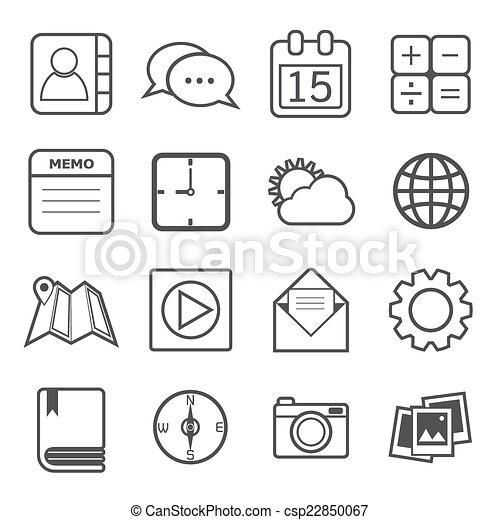 domanda, icone - csp22850067