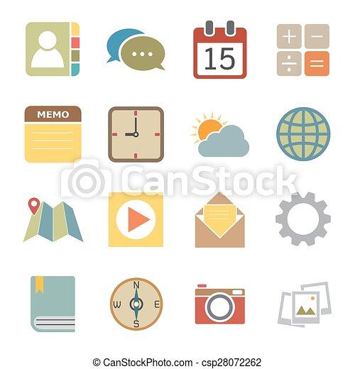 domanda, icone - csp28072262