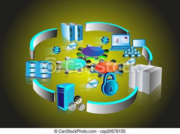 domanda, integrazione, impresa - csp20676155