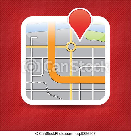 domanda, mappa - csp9386807