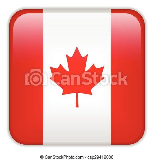 domanda, smartphone, bandiera canada - csp29412006