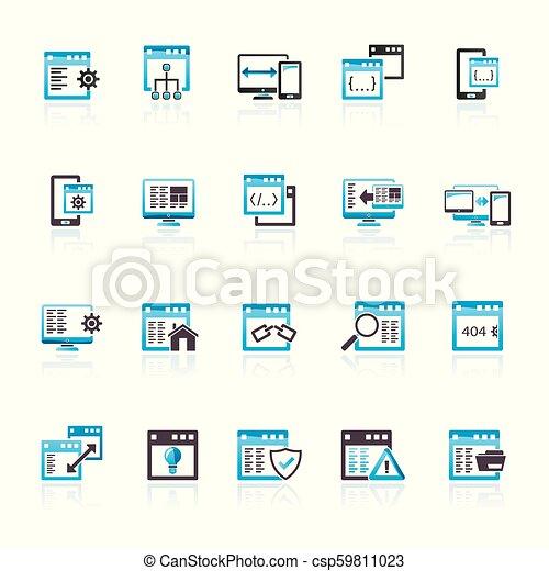 domanda, software, programmazione, icone - csp59811023