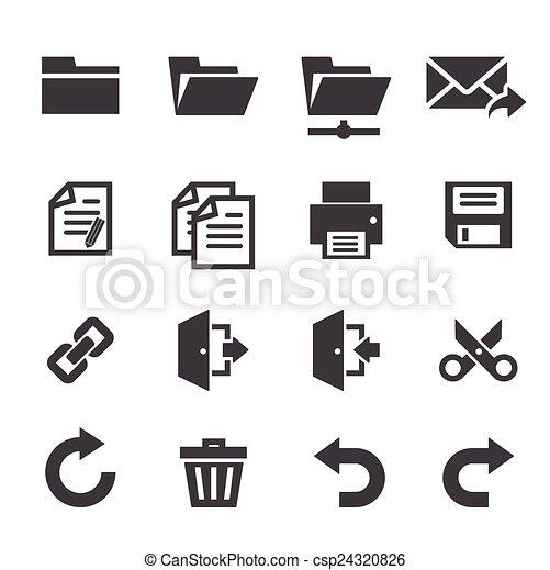 domanda, toolbar, icone - csp24320826