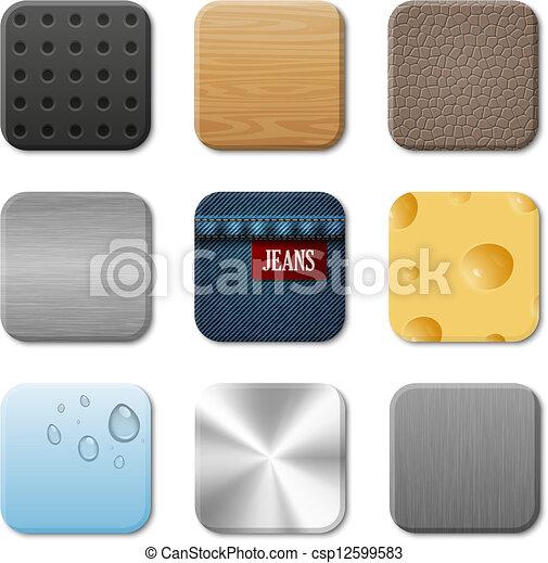 domanda, vettore, interfaccia utente, icona, pacco - csp12599583