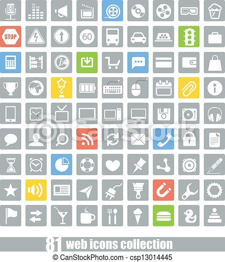 domanda, web, 81, collezione, icone - csp13014445