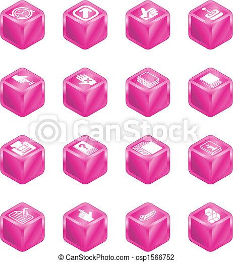 domande, cubo, serie, set, icona - csp1566752