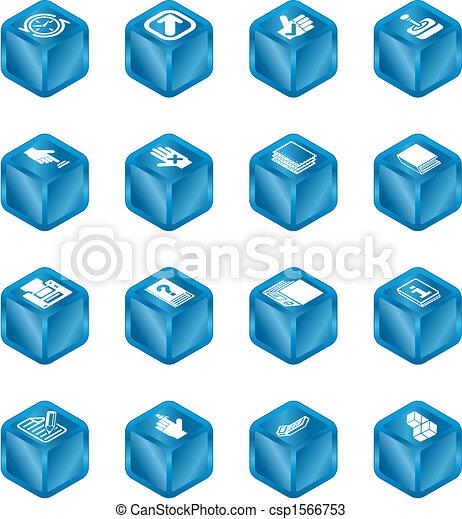 domande, cubo, serie, set, icona - csp1566753