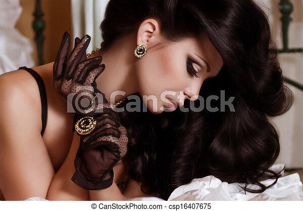 donna, gioielleria, moda - csp16407675