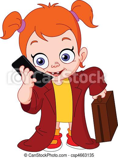 donna, giovane, affari - csp4663135