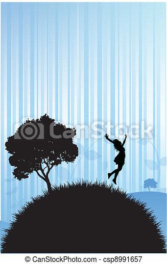 donna, natura - csp8991657