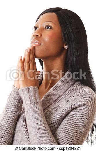 donna, preghiera - csp1204221