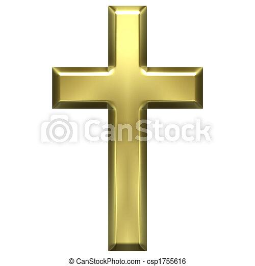 dorato, croce - csp1755616