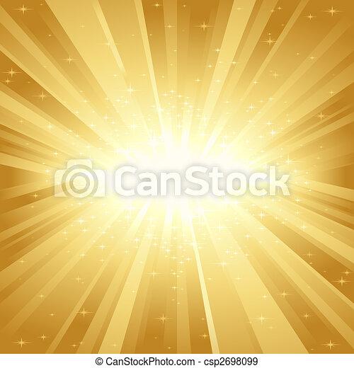 dorato, luce, stelle, scoppio - csp2698099