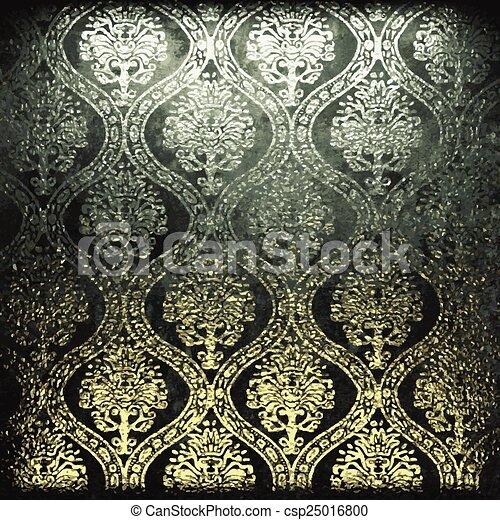dorato, pietra, vettore, lusso, fondo - csp25016800
