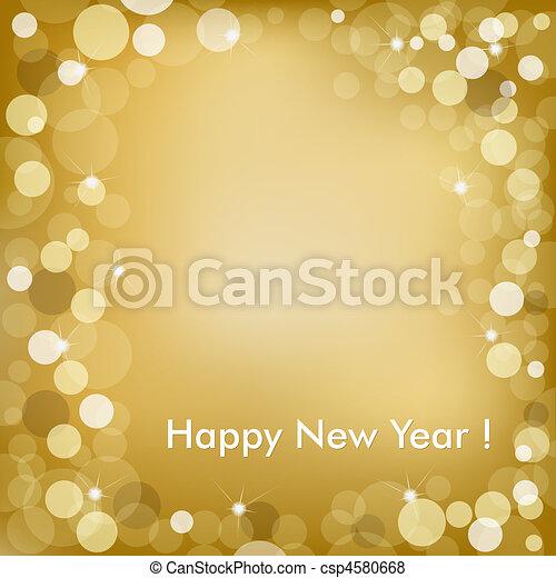 dorato, vettore, fondo, anno, nuovo, felice - csp4580668