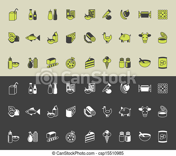 drogheria, vettore, set, icone - csp15510985