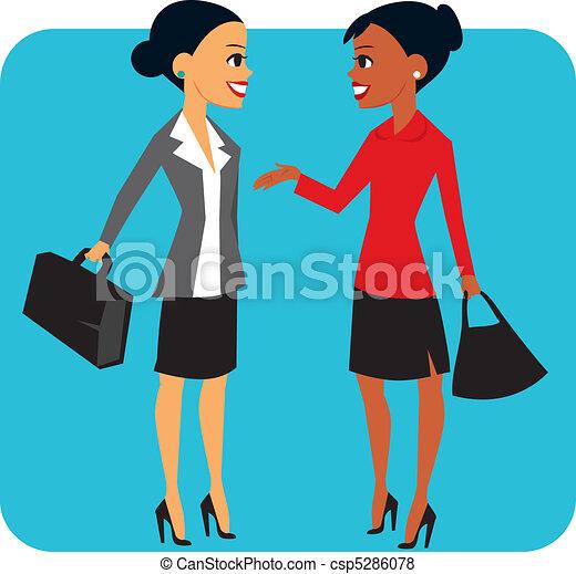 due, donne affari - csp5286078