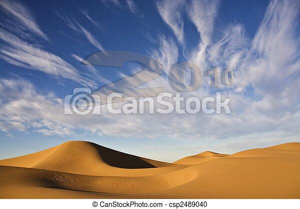 dune, 2010, sabbia, anno, nuovo, deserto - csp2489040