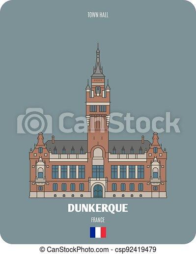 dunkerque, salone, francia, città - csp92419479