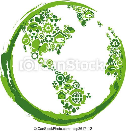 eco, -, 2, concetto, pianeta - csp3617112