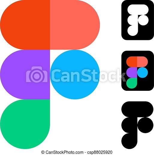 editoriale, bianco, sviluppo, figma, vettore, domanda, disegno, mobile, logos, more., domande, serie, sito web, fondo. - csp88025920