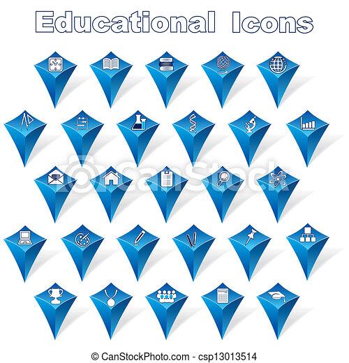educativo, set, icone - csp13013514