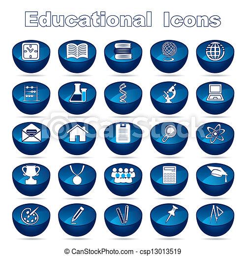educativo, set, icone - csp13013519