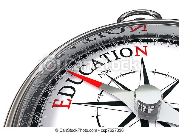 educazione, bussola - csp7627336