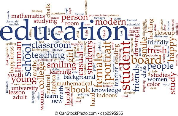 educazione, parola, nuvola - csp2395255