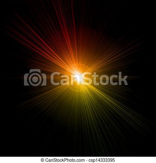 effect., luce, vettore, bagliore - csp14333395